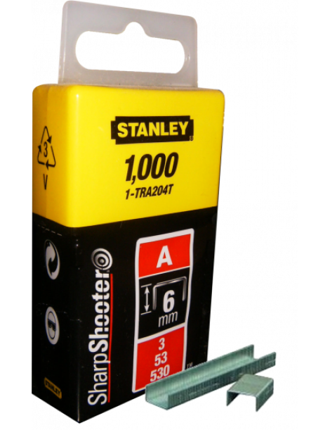 AGRAFOS STANLEY  6MM 3/53/530