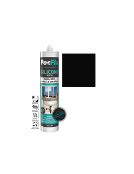 SILICONE NEUTRO COLOR PECFIX PRETO 9005